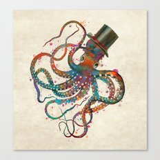 Mr Octopus Canvas Print