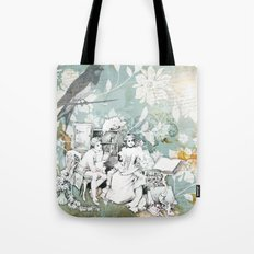 Vintage Reading Collage Tote Bag
