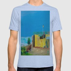 Jamaica. Jamaican Blues Mens Fitted Tee Athletic Blue SMALL