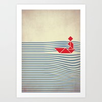 IN THE RIVER Art Print