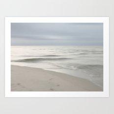 Beach Impression Silver Art Print