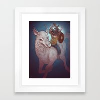 Boy and His Beast Framed Art Print