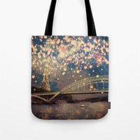 Love Wish Lanterns Over … Tote Bag