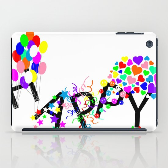 Just Happy iPad Case
