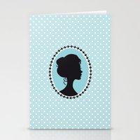 Blue cameo Stationery Cards