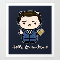 Hello Grandsons Art Print
