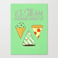 Ice Cream Pizza Party Canvas Print