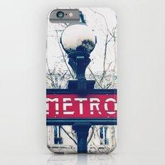 Paris Metro Sign iPhone 6 Slim Case