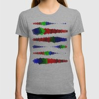 Screen Squares Womens Fitted Tee Athletic Grey SMALL