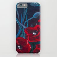 Crimson Poppies iPhone 6 Slim Case