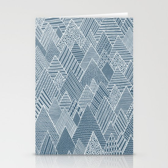 Mountain Pattern Stationery Card