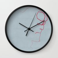One line Boy from Hell Wall Clock