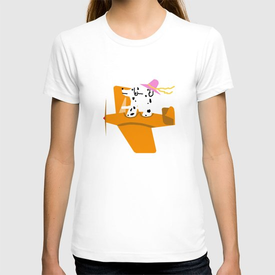 Airplane and Dalmatians T-shirt