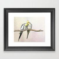 Lovebirds  Framed Art Print