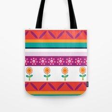flower dot stripe Tote Bag