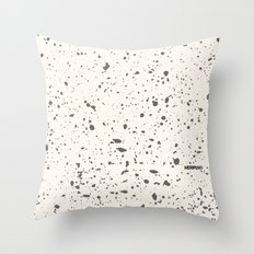 Retro Speckle Print - Bone Throw Pillow