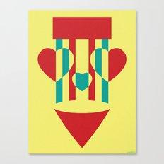 CIRCUS HEARTS Canvas Print
