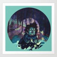 Snail Witch Art Print