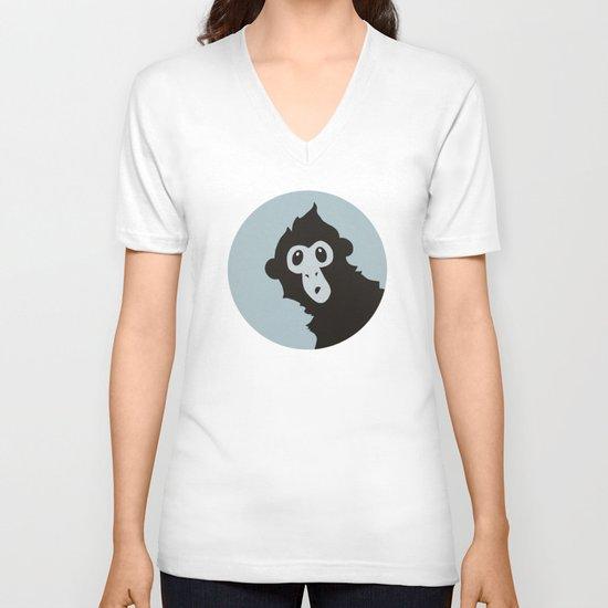 Spider Monkey - Peekaboo! V-neck T-shirt