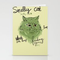 Smelly cat Stationery Cards
