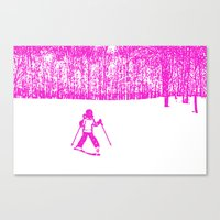 Little Skier II Canvas Print