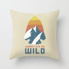 Journey Into The Wild Throw Pillow