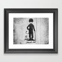 Charlie Cat Framed Art Print