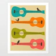 Birds On A Guitar String… Art Print