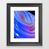 Liquid Swirl Abstract Framed Art Print
