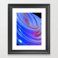 Liquid Swirl abstract Framed Art Print