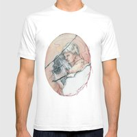 14/02 : Love Triangle  Mens Fitted Tee White SMALL