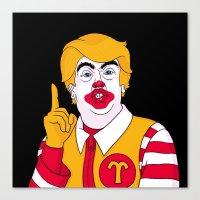 McDonald Trump Canvas Print
