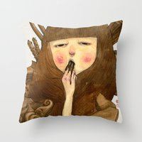 Chocoholic Throw Pillow
