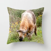 The Endangered Takin Throw Pillow