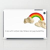 rainbows & poops iPad Case