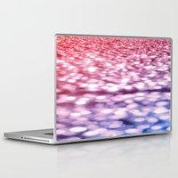 glitter Laptop & iPad Skins featuring Pink Purple Blue Glitter by WhimsyRomance&Fun