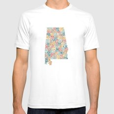 Alabama by County Mens Fitted Tee SMALL White
