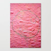 Smile on a pink toilet paper Canvas Print