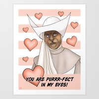 Novice Hame - You Are Purrr-fect In My Eyes Art Print