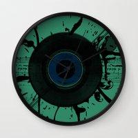 Vintage Vinyl Wall Clock