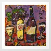 Wine Party  Art Print