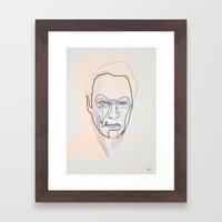 One Line Clint Eastwood Framed Art Print