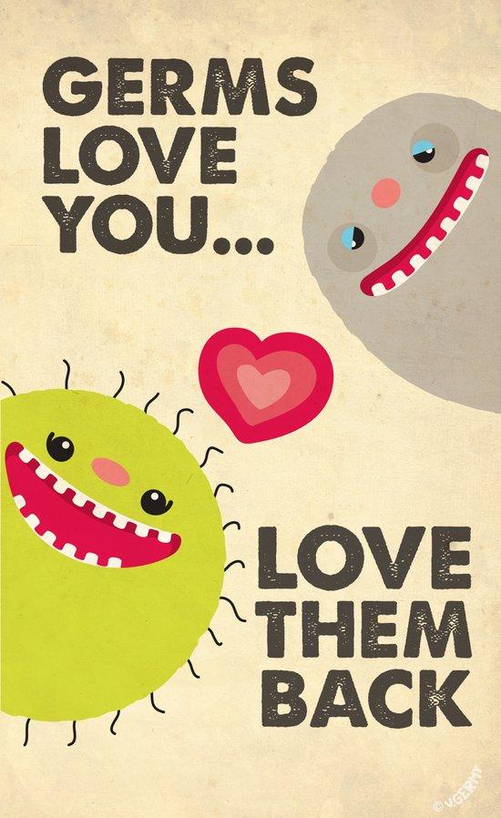Germs Love You Art Print
