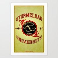 Stormcloak University(Sk… Art Print