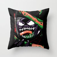 To Catch A Spider (Purple Symbiote) Throw Pillow