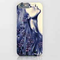 portrait iPhone & iPod Cases featuring Bloom by KatePowellArt