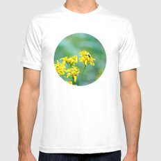 Bee Happy Mens Fitted Tee White SMALL