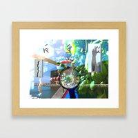 Te6ab1et Framed Art Print