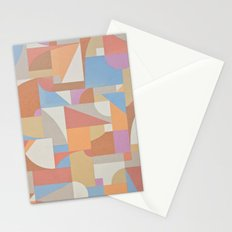 1 Inch Manila Grid Stationery Cards