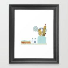 The Kitchen Shelf Framed Art Print